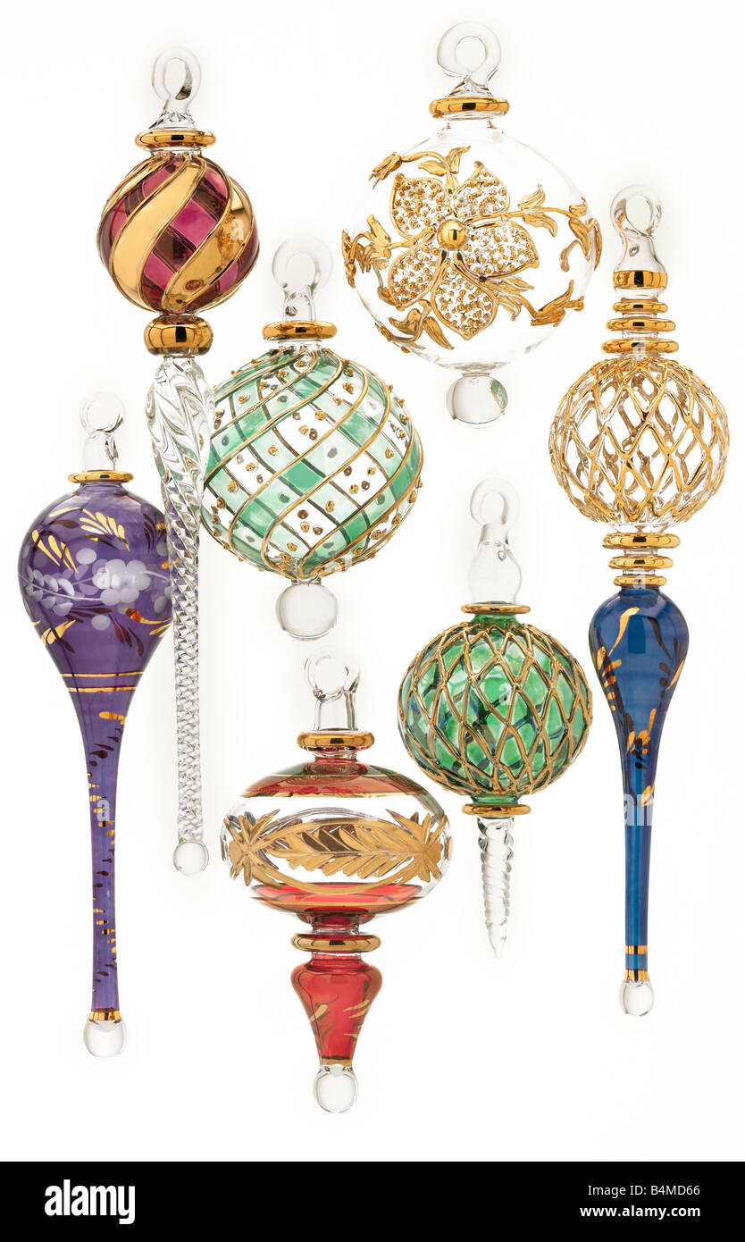 glass baubles - Stock Image