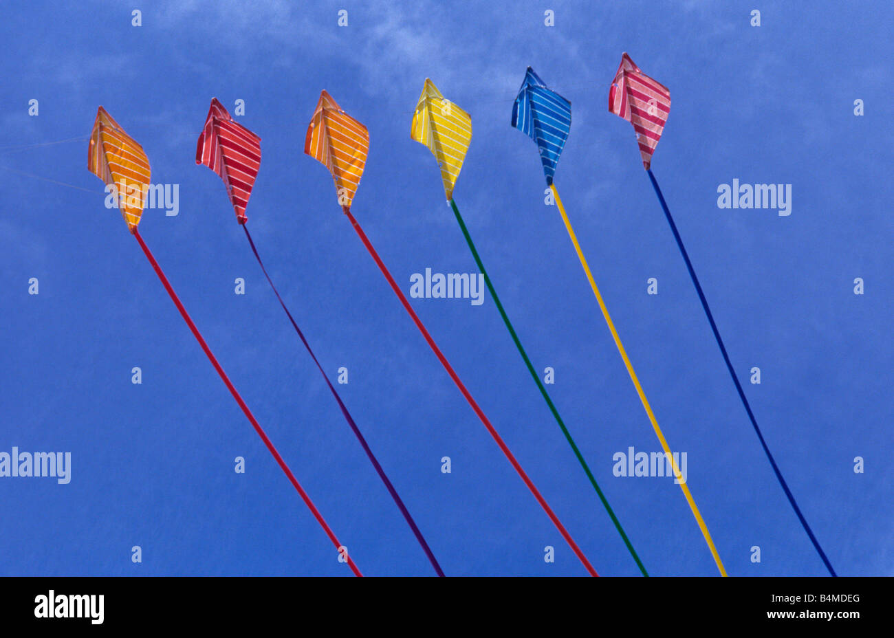 'Flying a Kite' - Stock Image