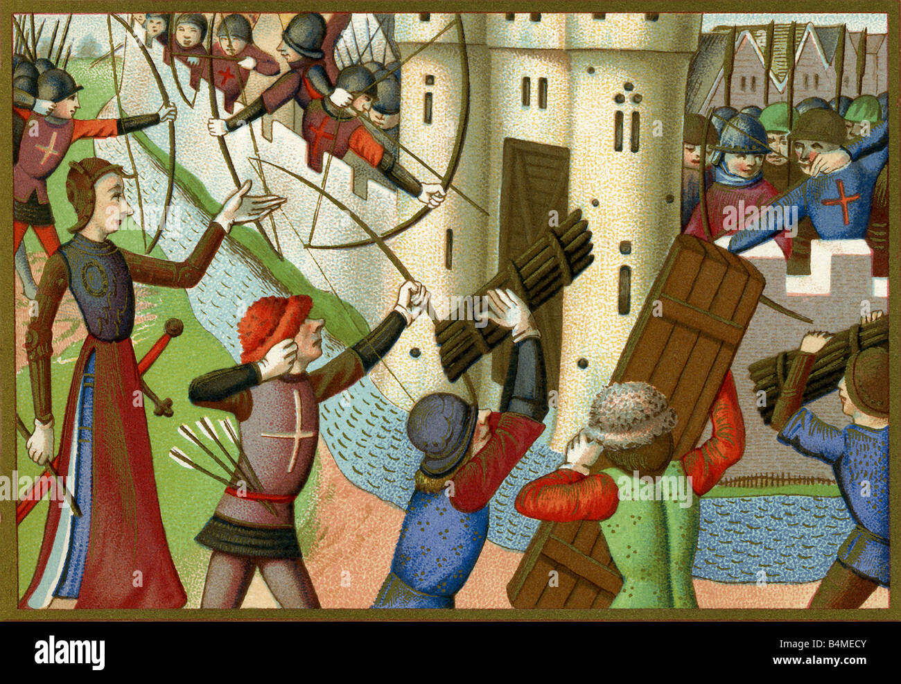 Joan of Arc and the Siege of Paris - Stock Image