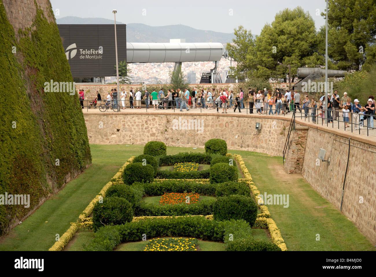 Castel Montjuic Barcelona Catalunya Spain - Stock Image