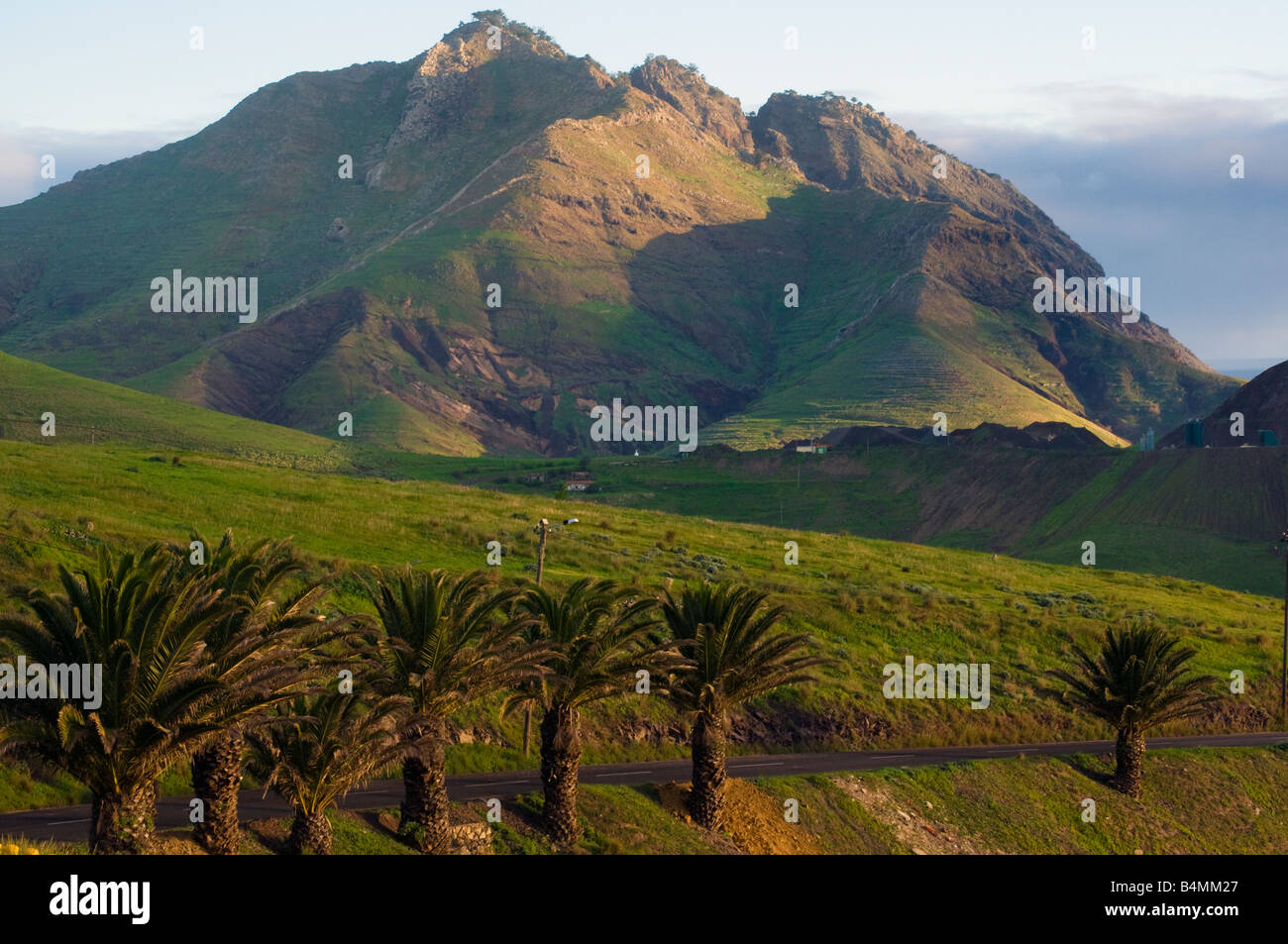 Rugged scenery on Porto Santo the neighbouring island to Madeira - Stock Image