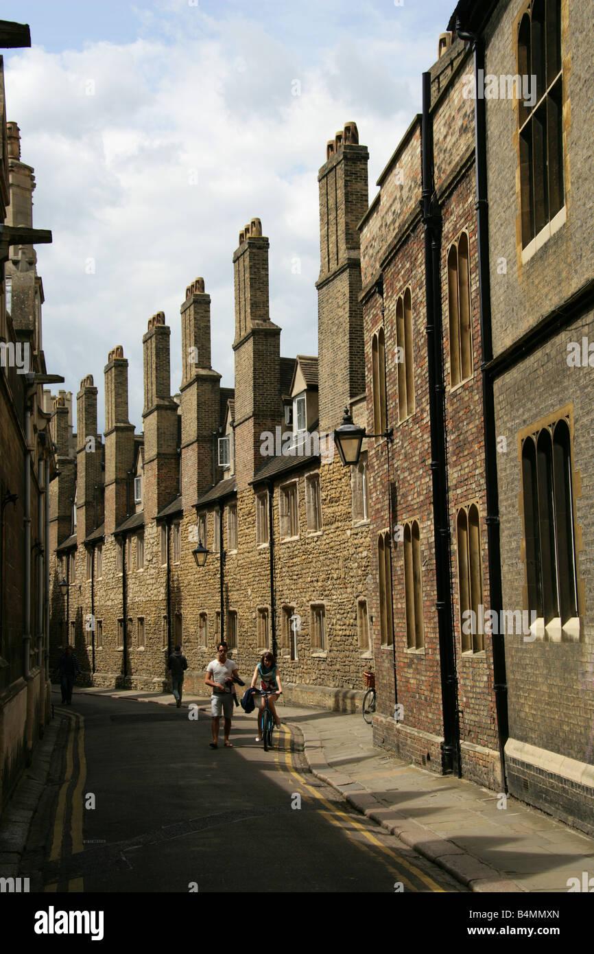 Trinity Lane, Cambridge City Centre, Cambridge, Cambridgeshire, UK - Stock Image