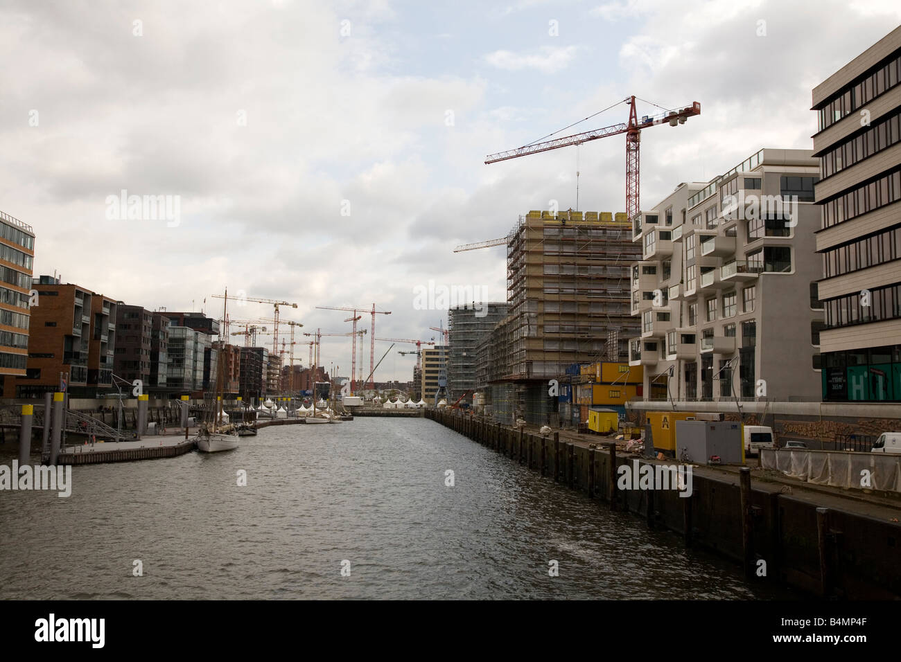Construction in the Hafen City area of Hamburg, Germany. - Stock Image