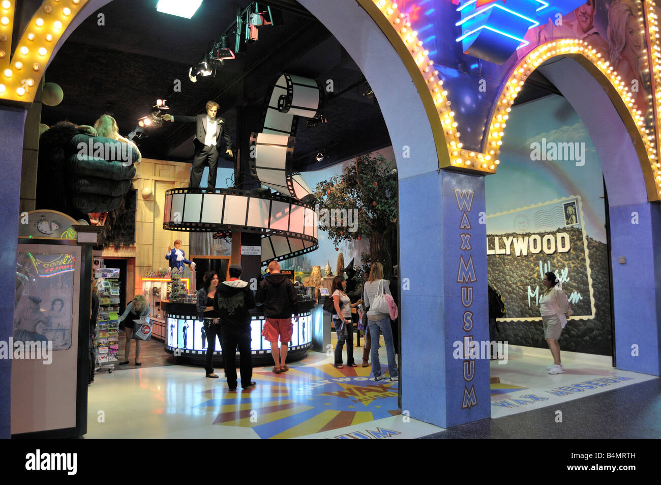 Entrance to the Hollywood Wax Museum - Stock Image