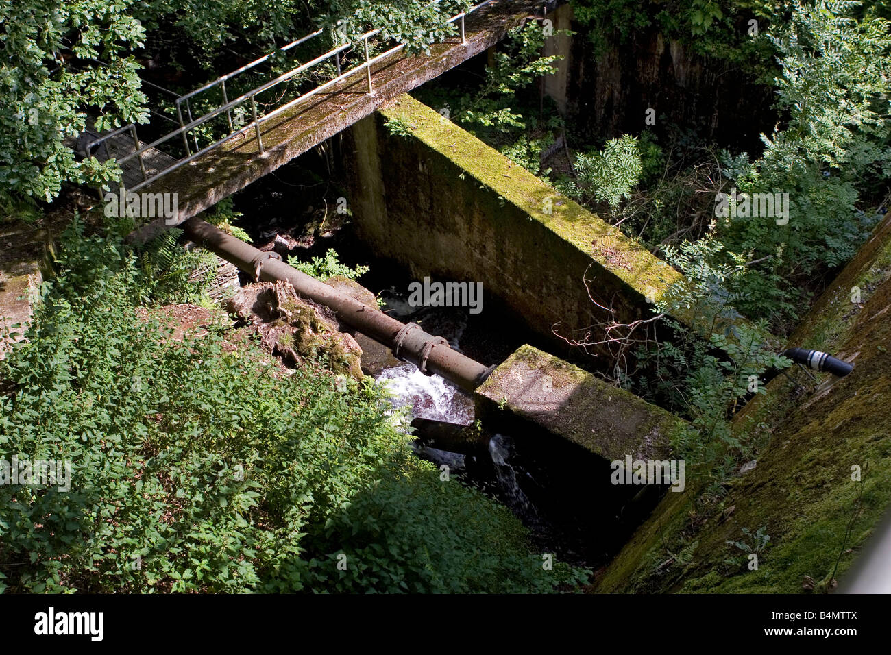 Outfall And Pipeline From Reservoir With Water Going To