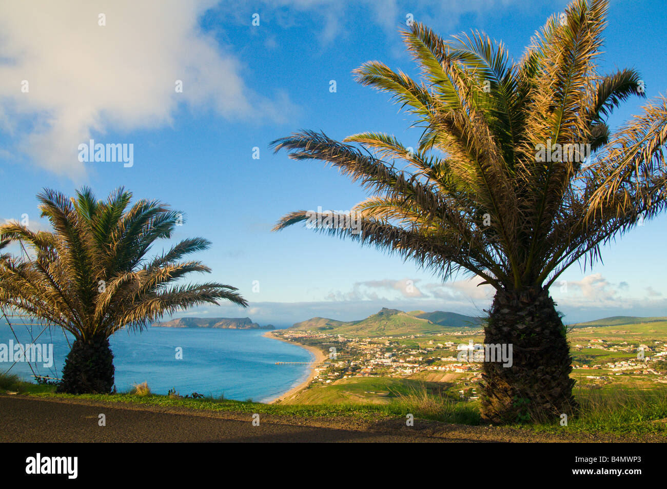 View from Partela on Porto Santo the neighbouring island to Madeira - Stock Image