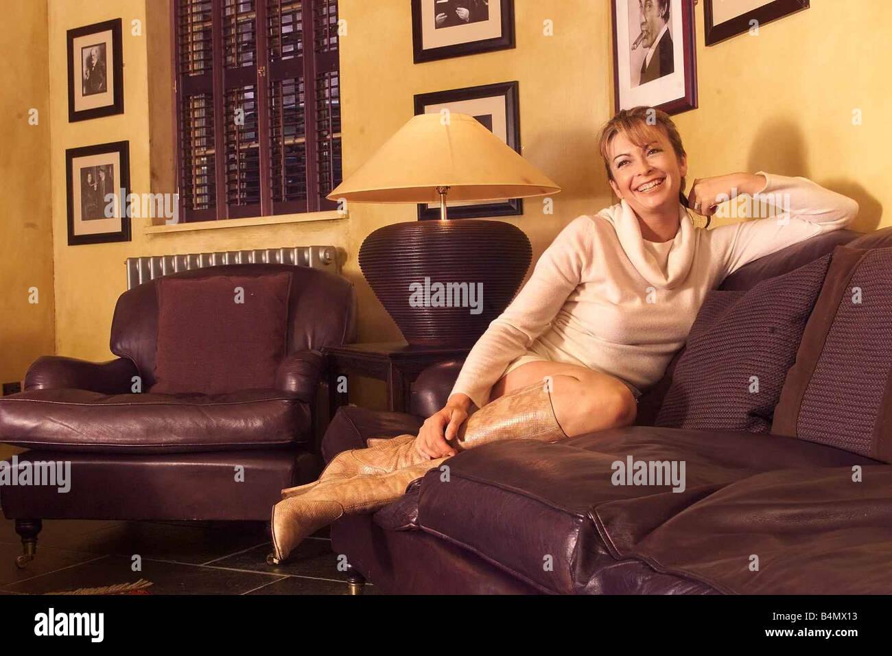 Suzy Perry TV Presenter January 2002 - Stock Image