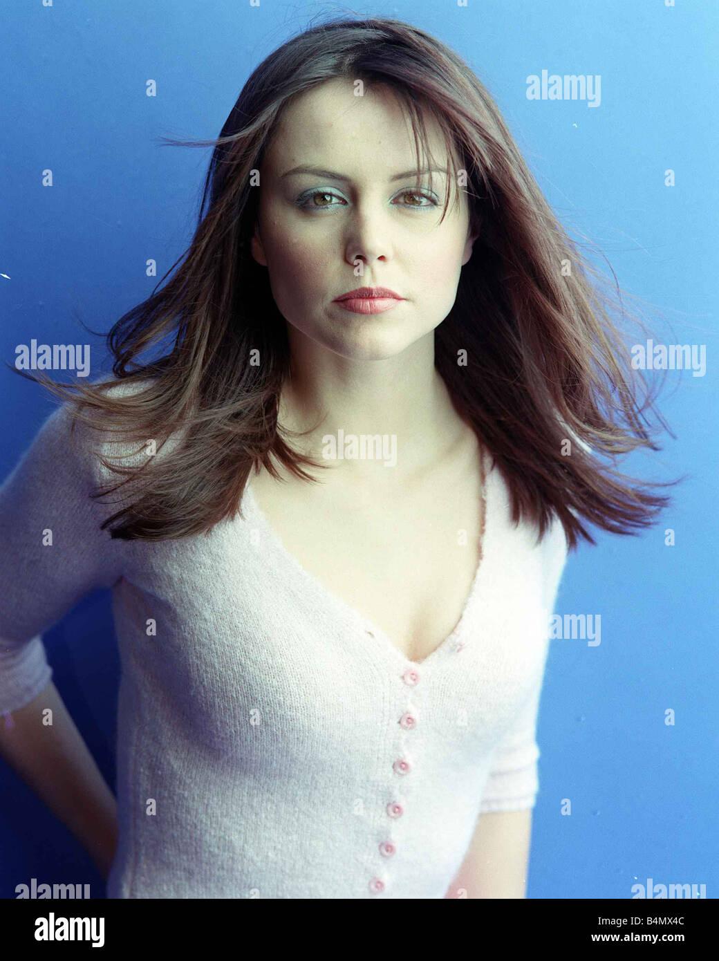 Beverley Turner February 2002 TV Presenter - Stock Image