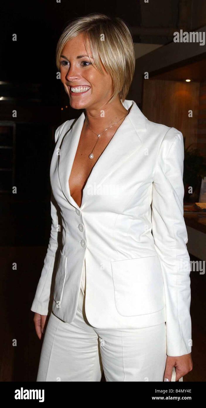 TV Presenter Jenni Falconer arriving at the Vital Scottish Style Awards June 2002 - Stock Image