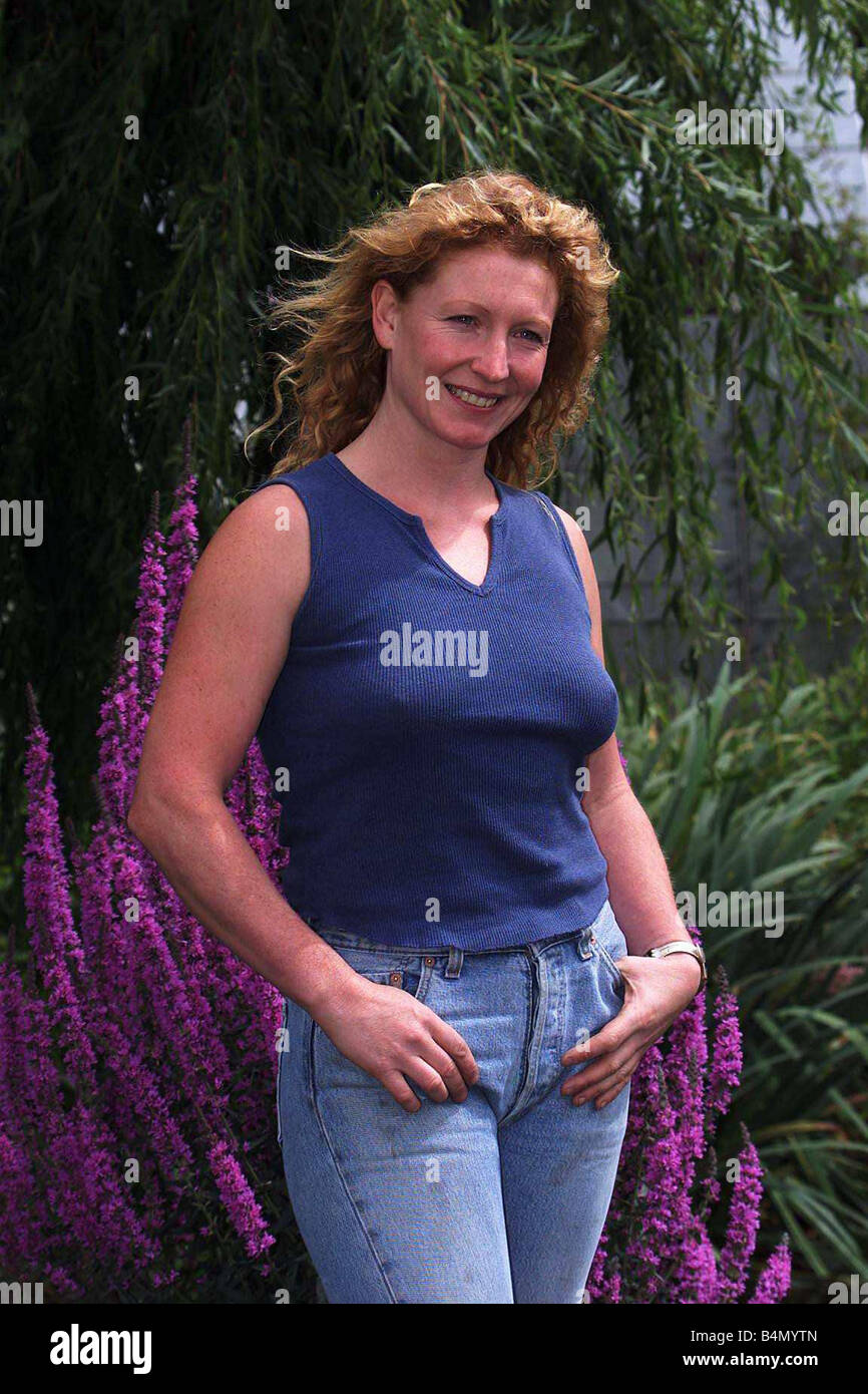 Charlie Dimmock TV Presenter Gardener July 1999 Pictured