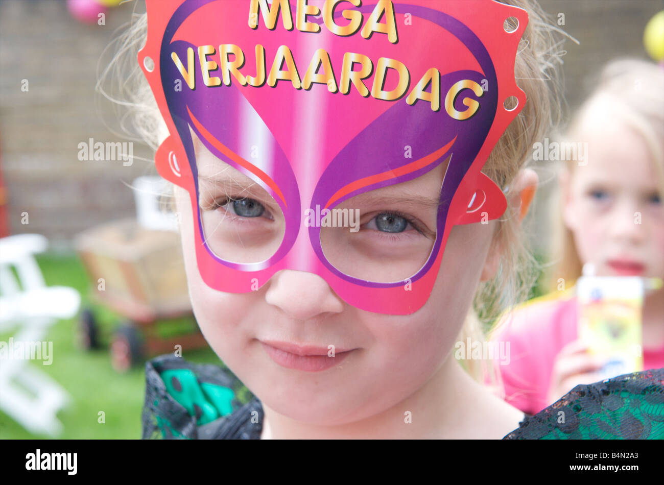 Netherlands birthday party of four year old girl Stock Photo