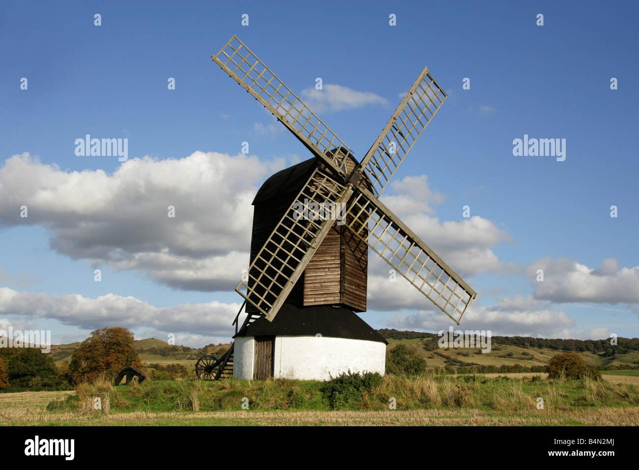 Pitstone Windmill, Pitstone Near Ivinghoe, Buckinghamshire, UK - Stock Image