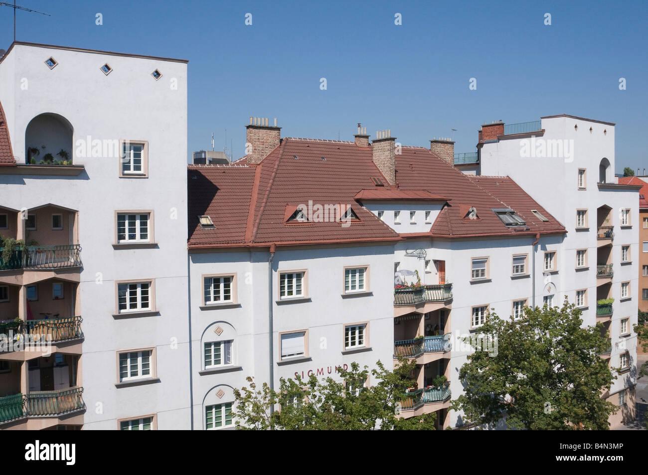 Wien Gemeindebau Sigmund Freud Hof - Stock Image