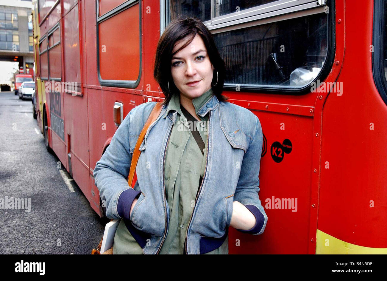 Lynne Ramsay November 2002 Film Director of the rat catcher At Glasgows Art School recreation project - Stock Image