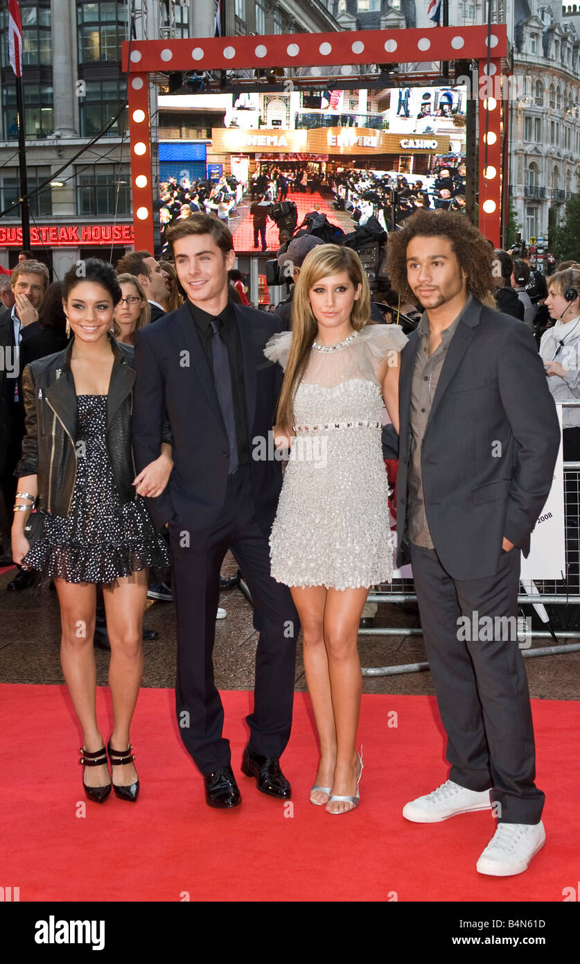 The cast of 'High School Musical 3' attend the UK premiere in London Leicester Square - Stock Image