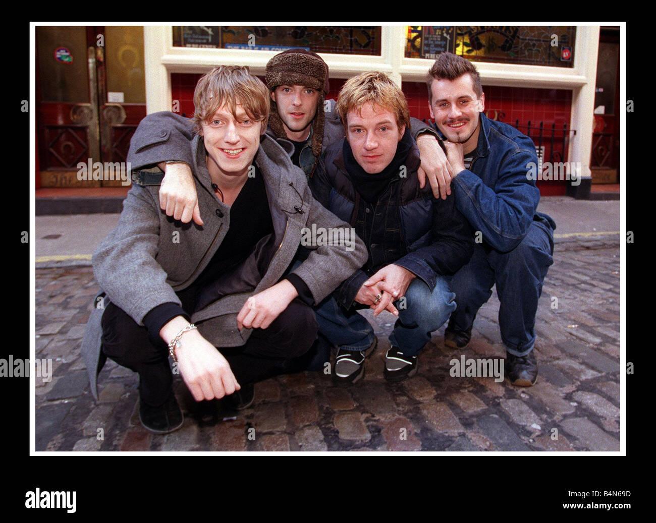 Travis October 1999 at the Horseshoe bar Glasgow Stock Photo