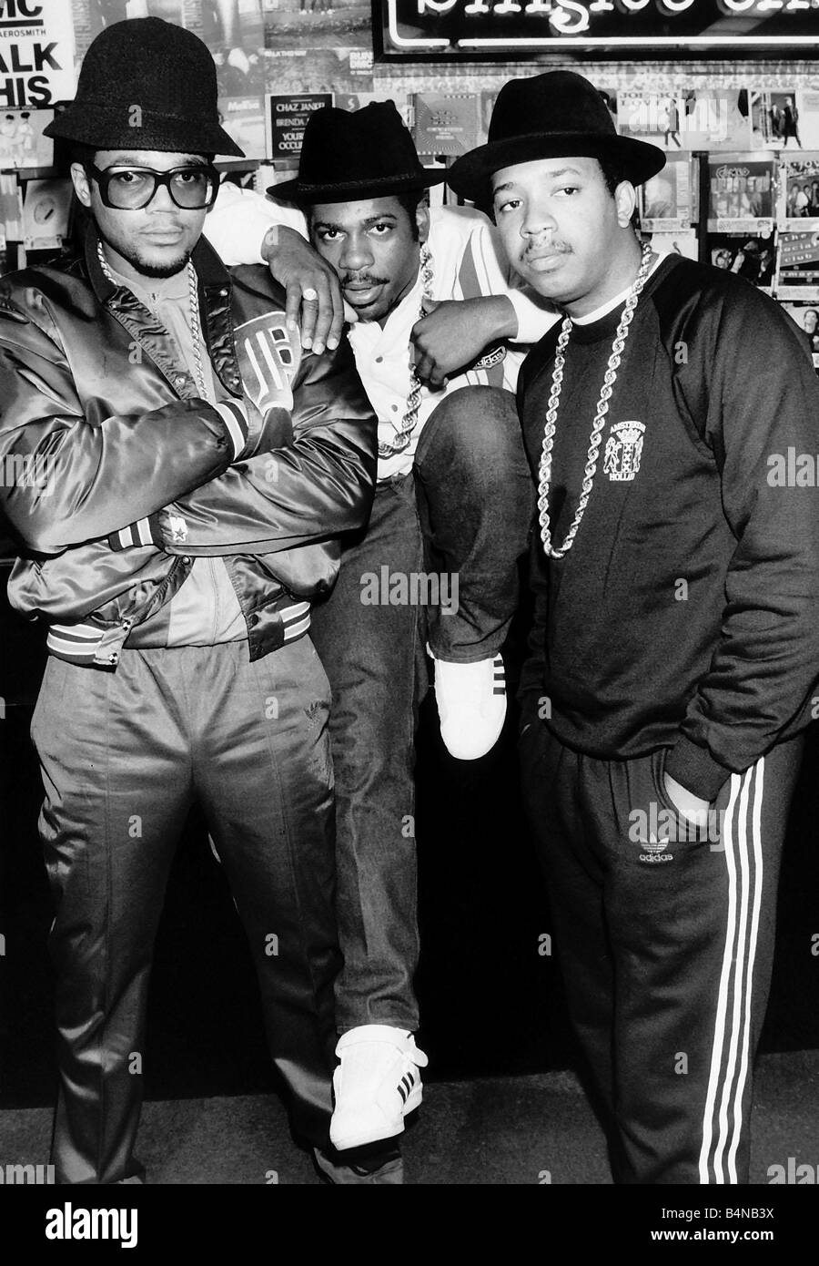 Run DMC American pop group rap 1986 - Stock Image
