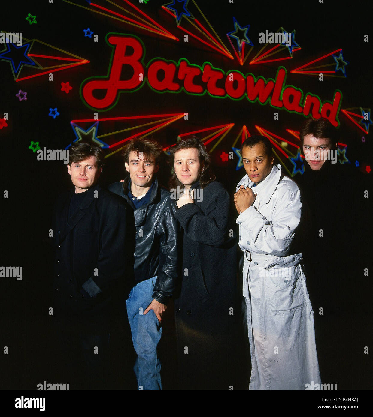 Simple Minds pop group band outside the Barrowlands in Glasgow circa 1995 - Stock Image
