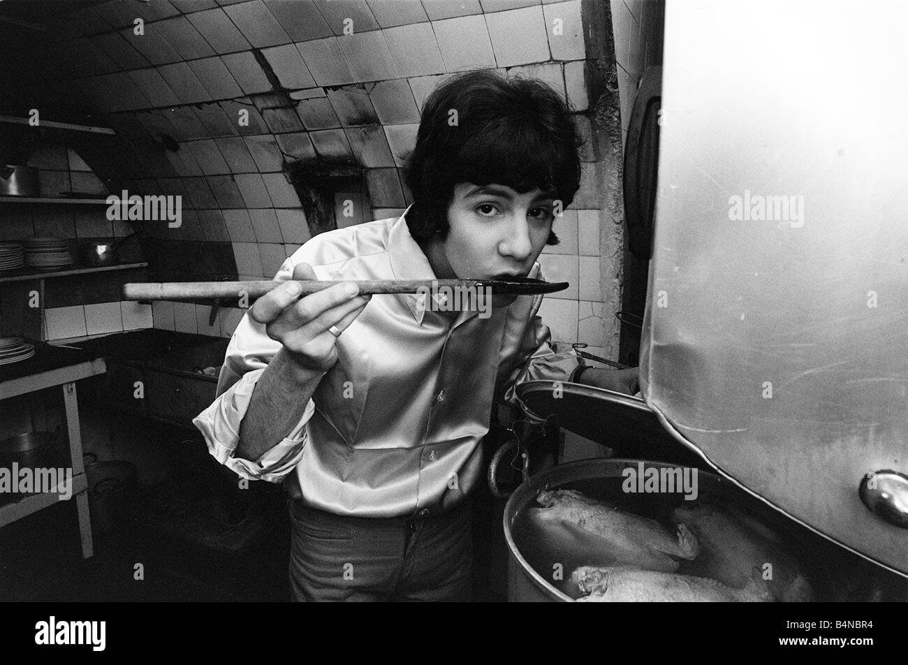 Cat Stevens February 1967 Composer And Singer Cooking In The Kitchen Stock Photo Alamy
