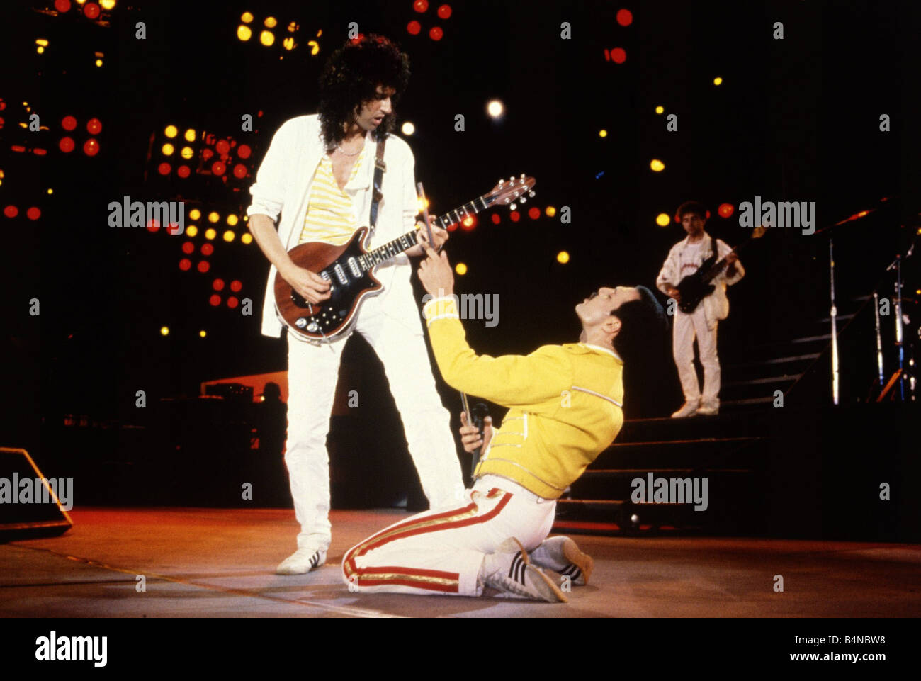 Queen Rock Group Freddie Mercury and Brian May on stage