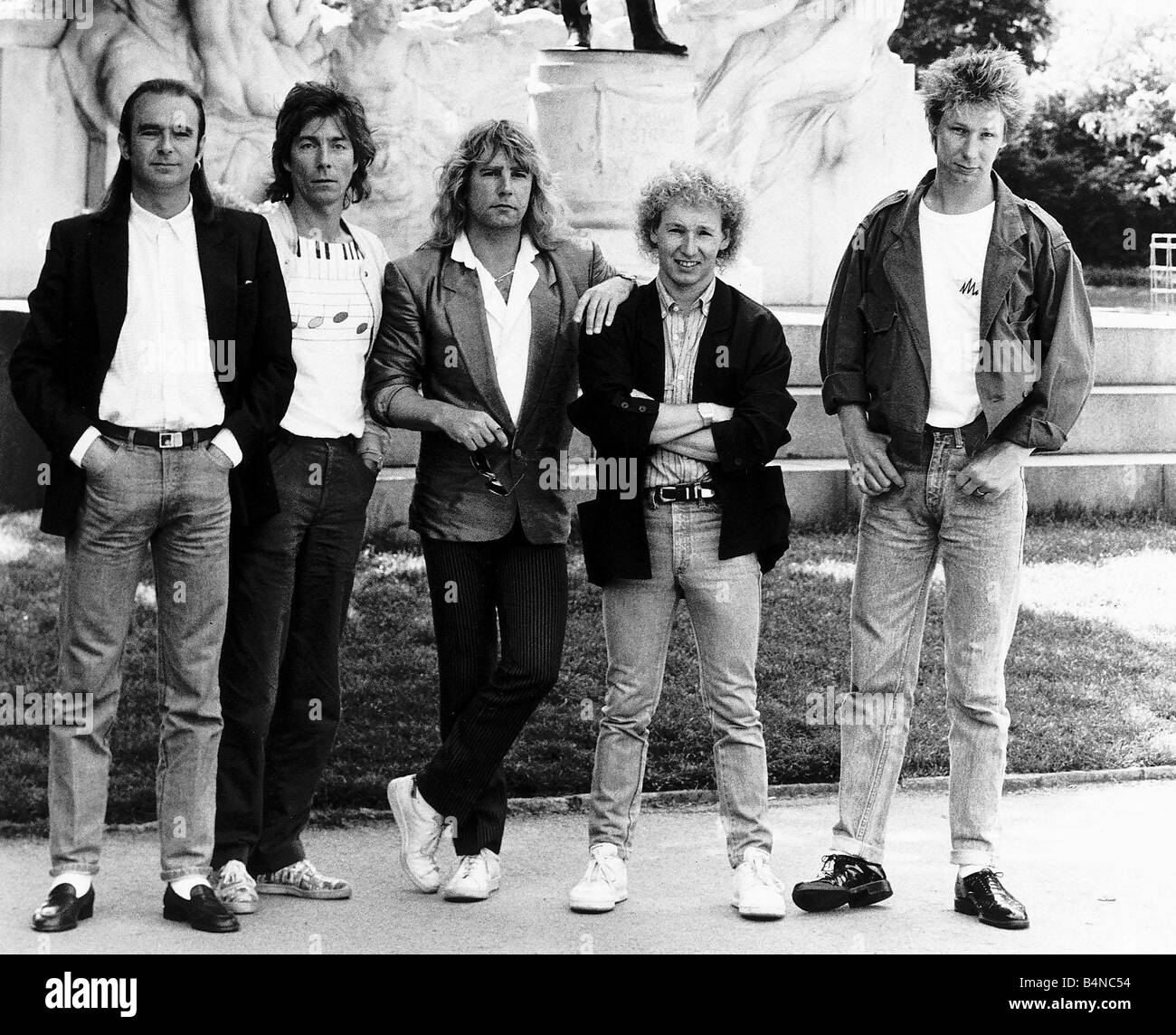 Statis Quo the pop group of the eighties - Stock Image