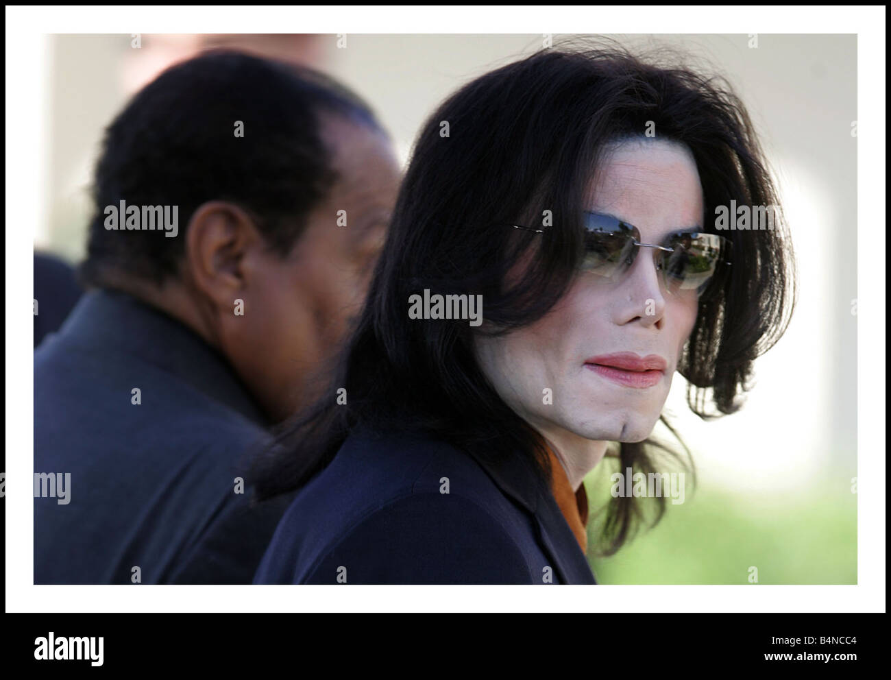 Michael Jackson arrives at the Santa Maria court house Jackson is facing ten charges relating to incidents that - Stock Image