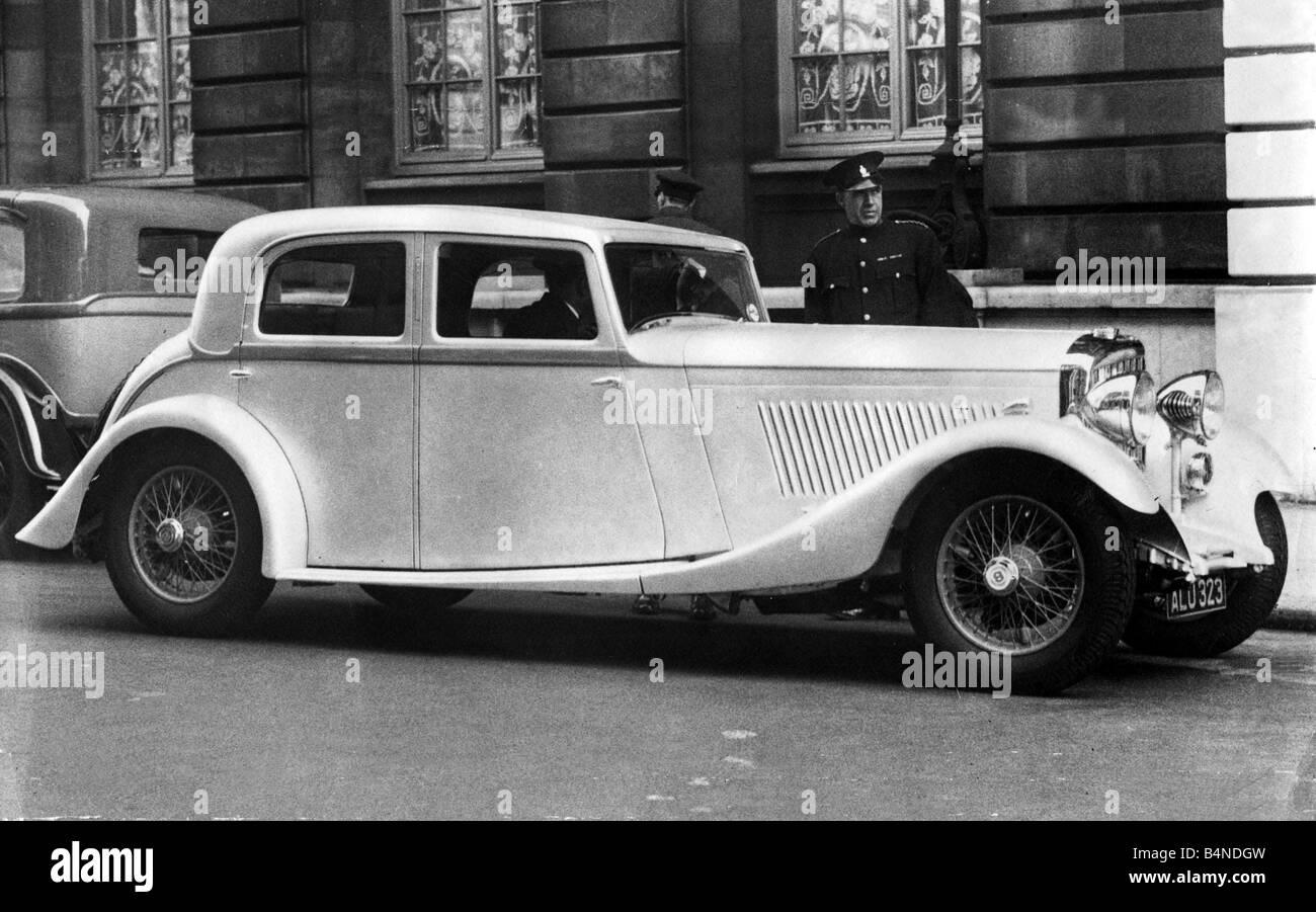 Motors Motor Racing Bentley 1933 two door Coupe September 1933 - Stock Image