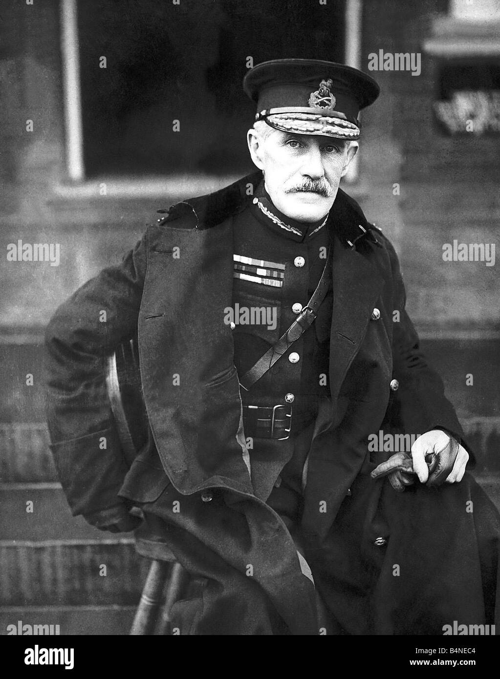 General Sir John French in 1914 When World War I was declared on 4 August 1914 Sir John commnder of the British - Stock Image