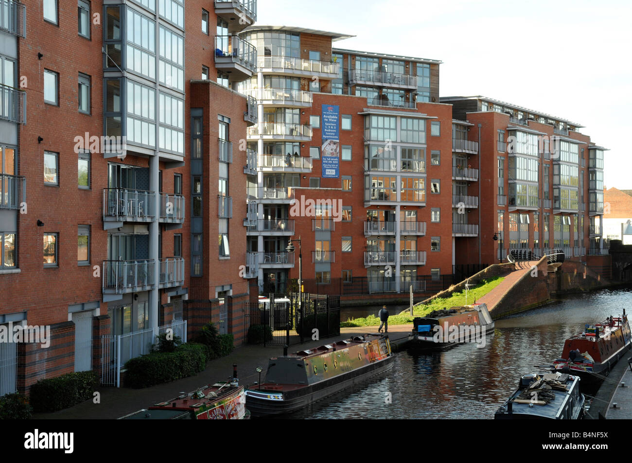 New Canal Side Apartments At King Edwards Wharf In Birmingham West Midlands