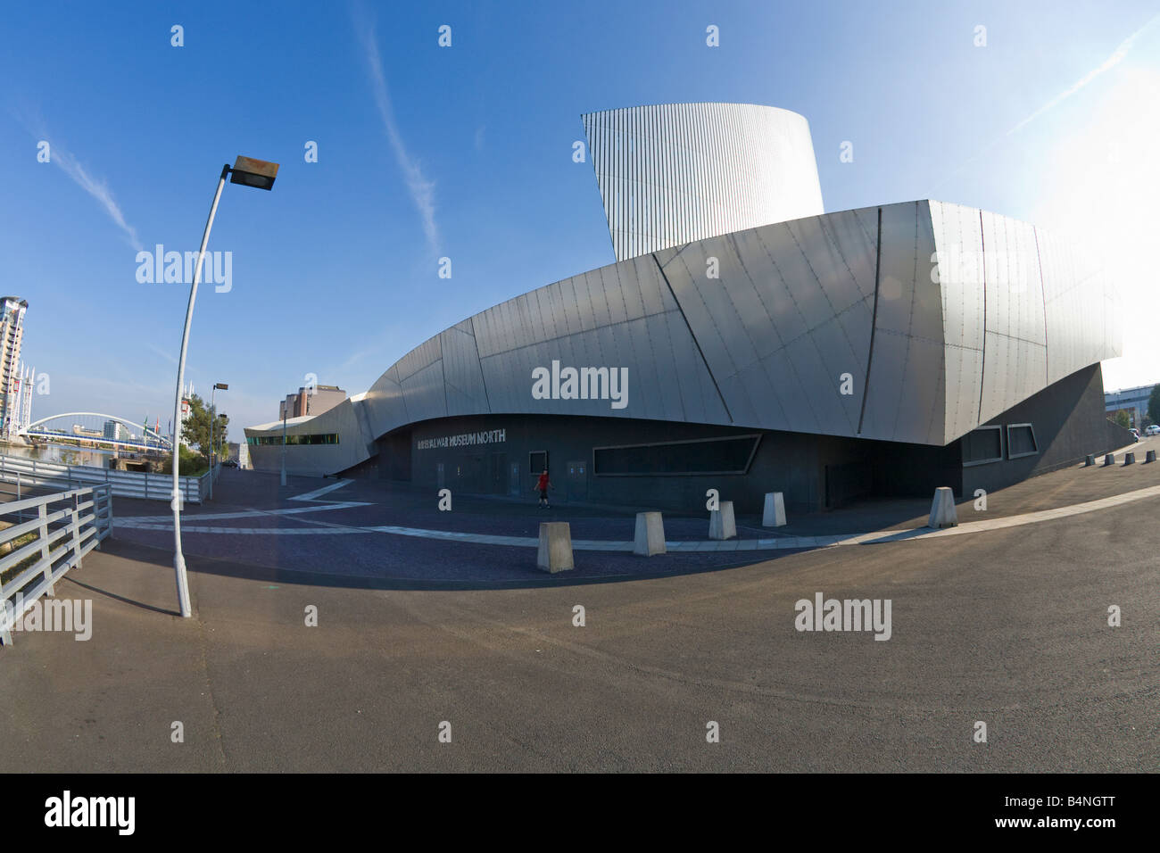 Imperial War Museum North Salford Quays Manchester Lancashire England UK United Kingdom GB Great Britain British - Stock Image