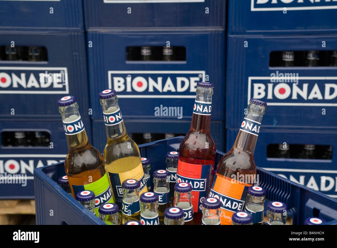 BIONADE GmbH production of the biological alcohol free soft drink Bionade - Stock Image