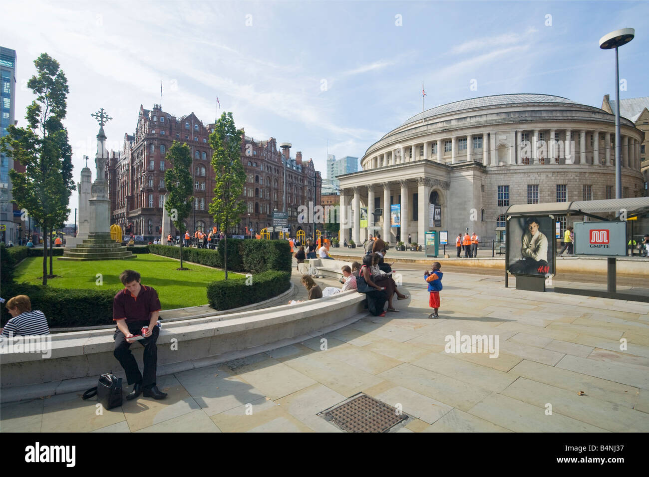 Central Library in St Peters Square Manchester city centre Lancashire England UK United Kingdom GB Great Britain - Stock Image