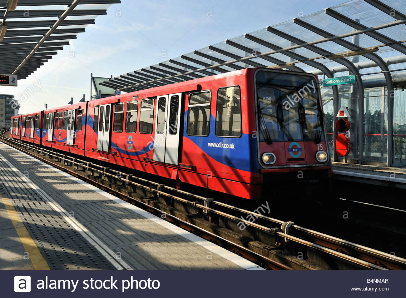 The Gallions Reach DLR station at Beckton East London - Stock Image
