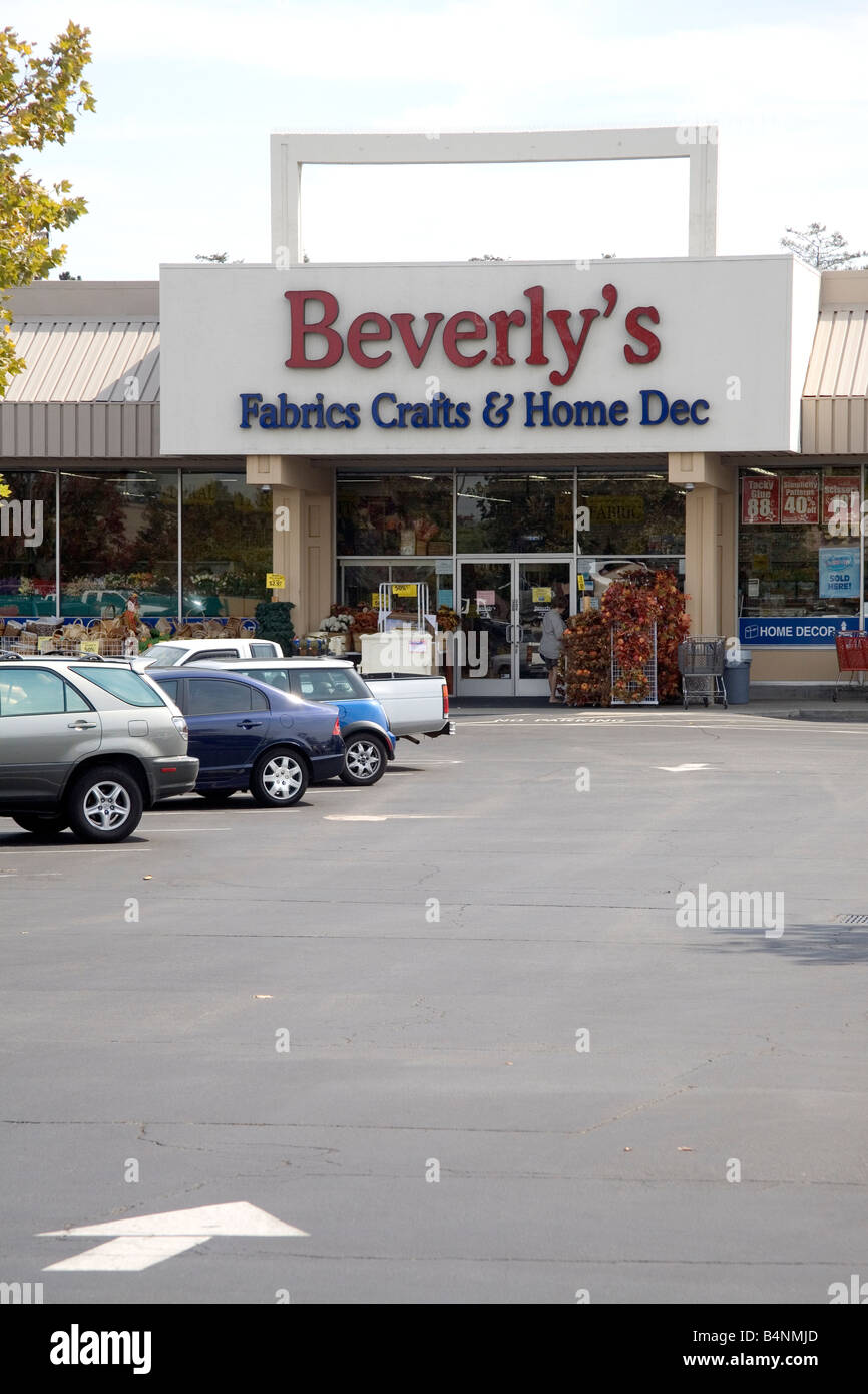 Beverlys Fabrics Crafts and Home Dec store in San Jose California USA - Stock Image