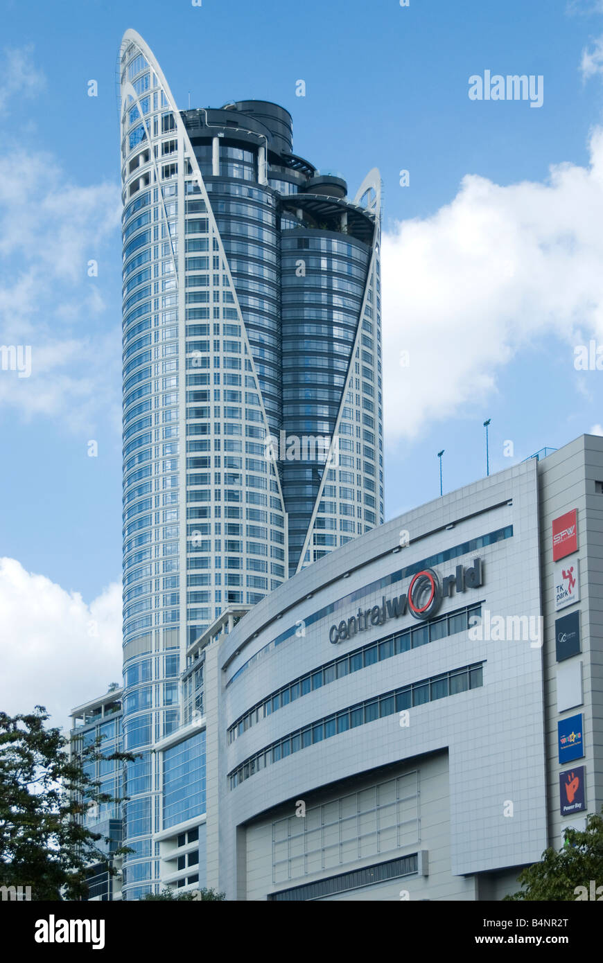 Centara Grand Hotel and Central World Plaza in Bangkok - Stock Image