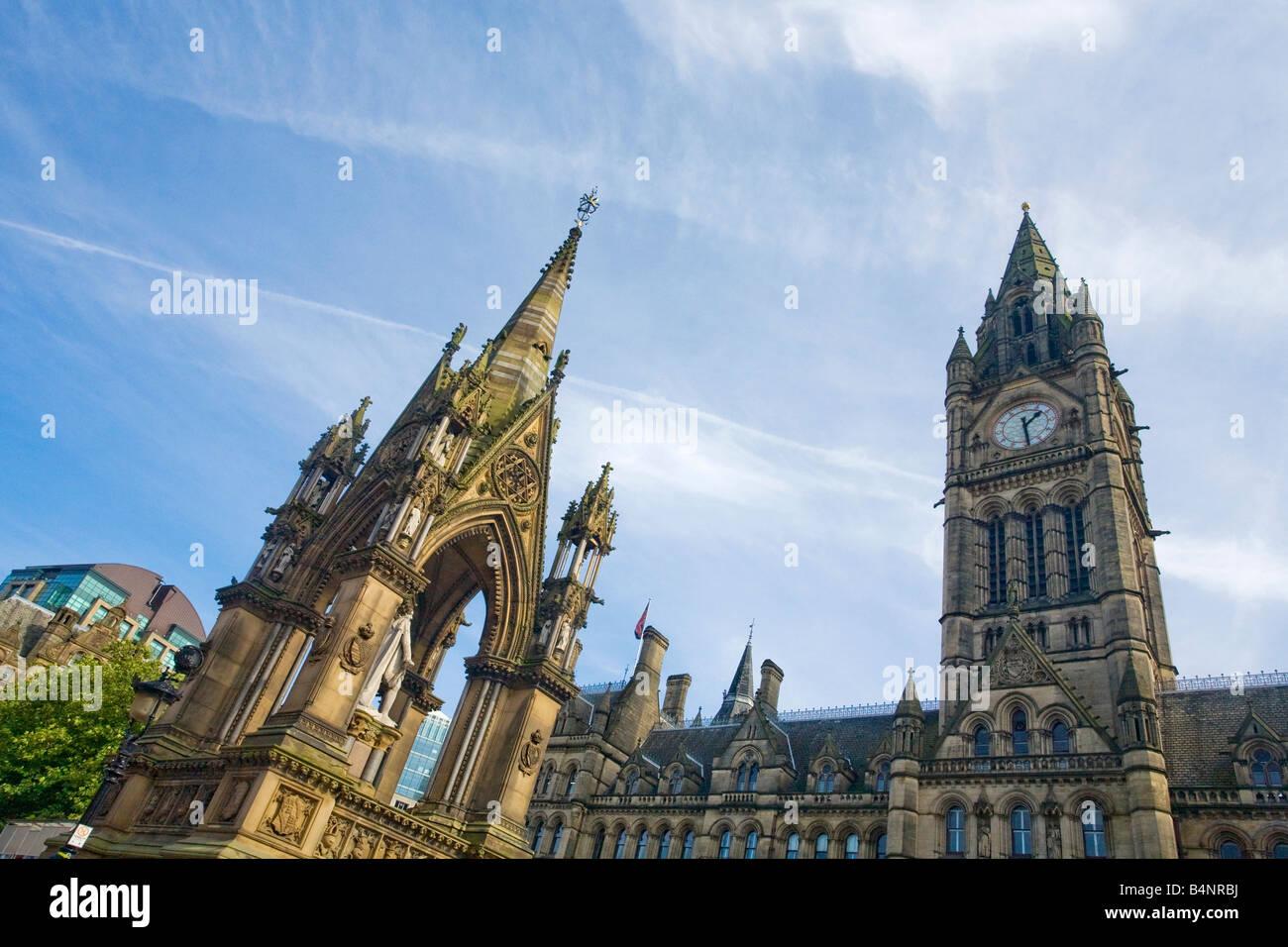 Town Hall in Albert Square Manchester city centre Lancashire England UK United Kingdom GB Great Britain British Stock Photo