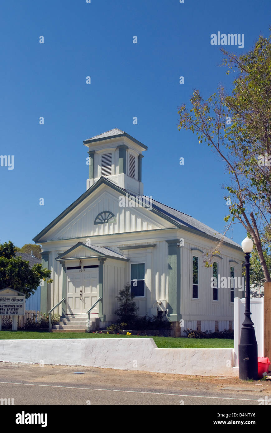 Historic Community Church in Mokelumne Hill Gold Country California USA - Stock Image