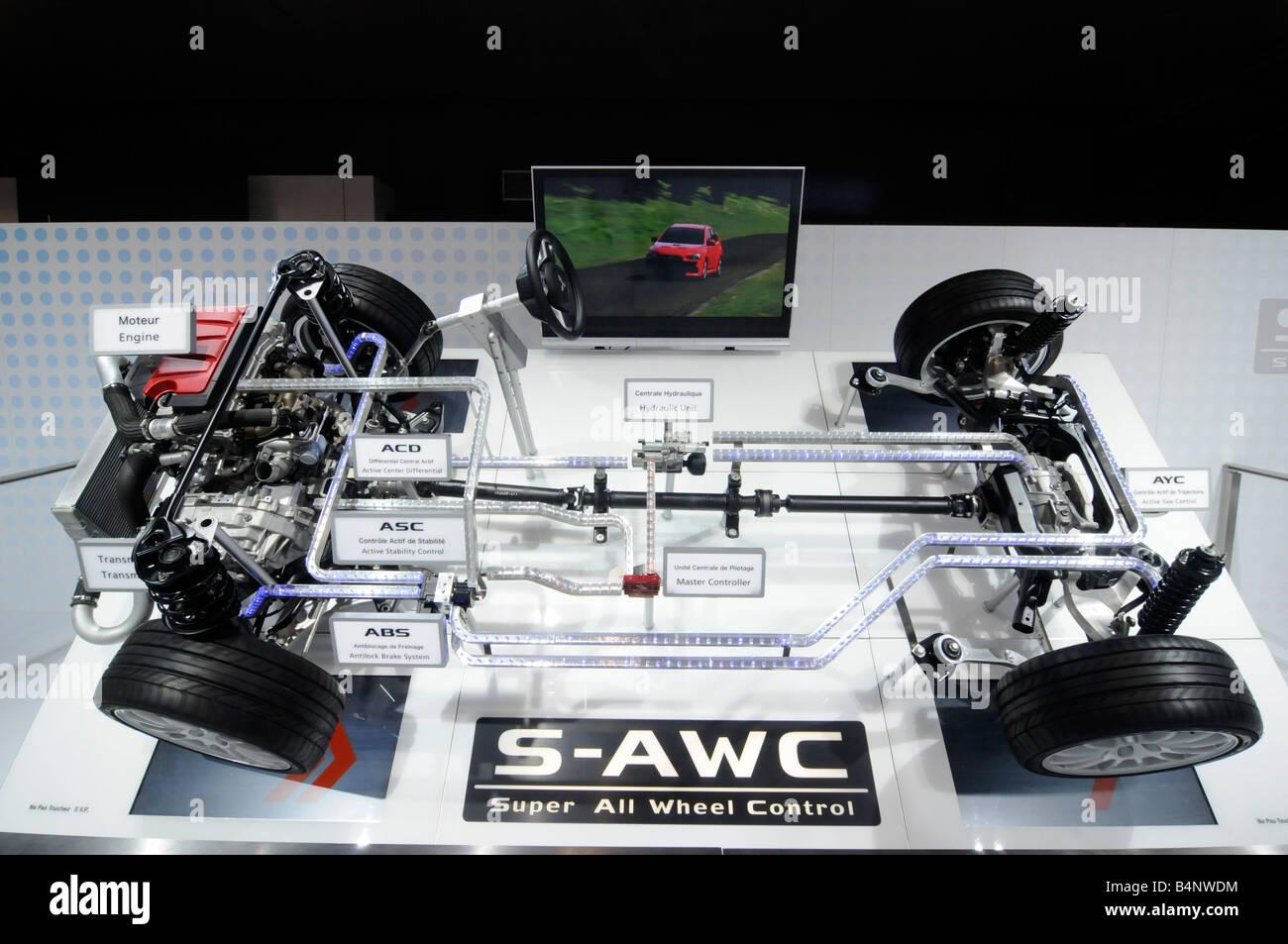 Skeleton Inside Of Car Detailing The Engine And Transmission System Stock Photo Alamy