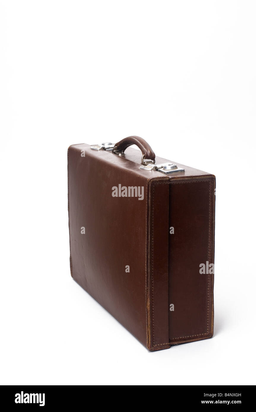 An old brown attache case - Stock Image