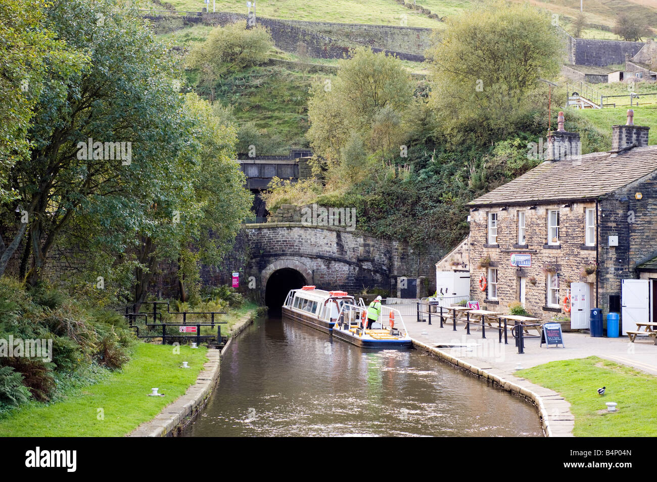 Standedge Tunnel End at Marsden, Huddersfield - Stock Image