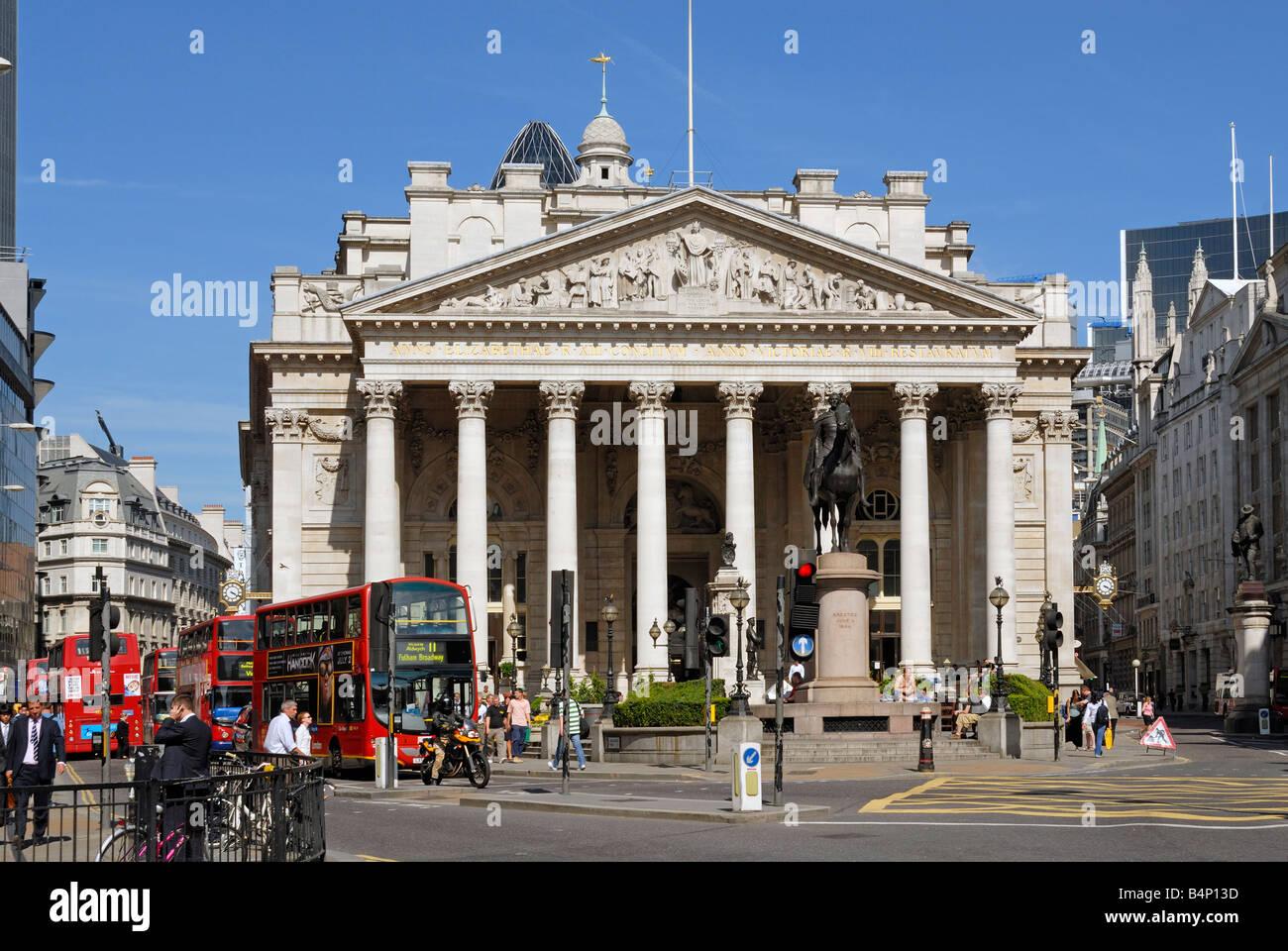Royal Exchange London - Stock Image