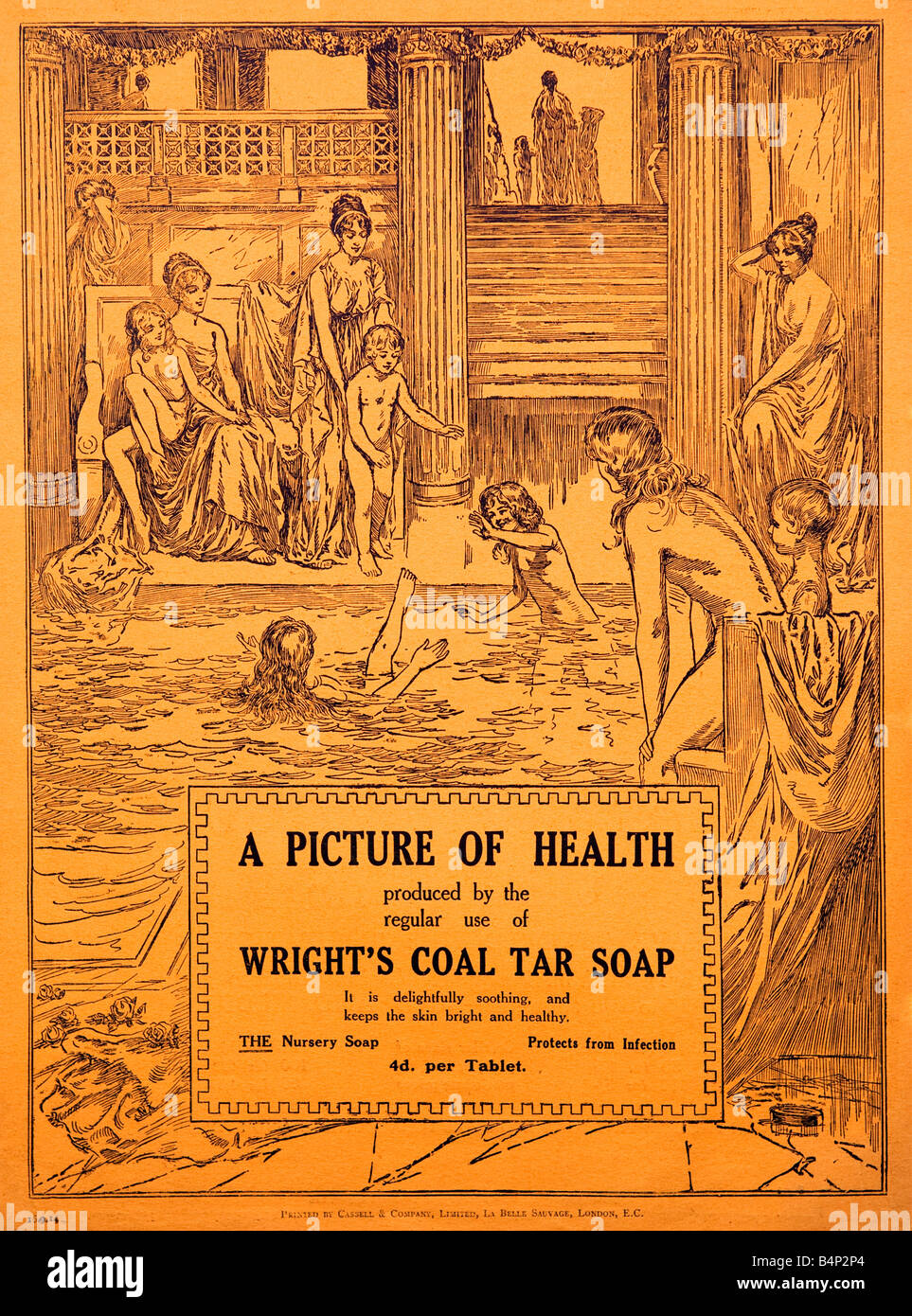 1915 advertisement for Wright's Coal Tar Soap  FOR EDITORIAL USE ONLY Stock Photo