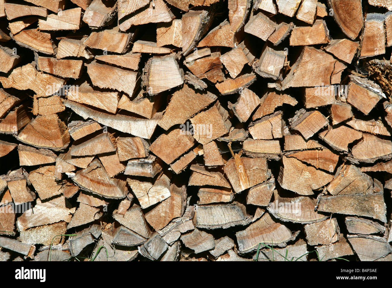 AUT, Austria, Stubai Valley, pile of fire wood, Stock Photo