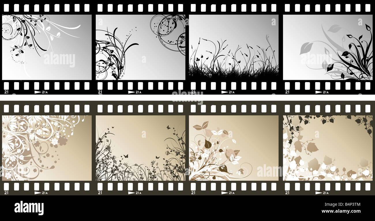 Film Strips Different Floral Designs Stock Photos & Film Strips ...