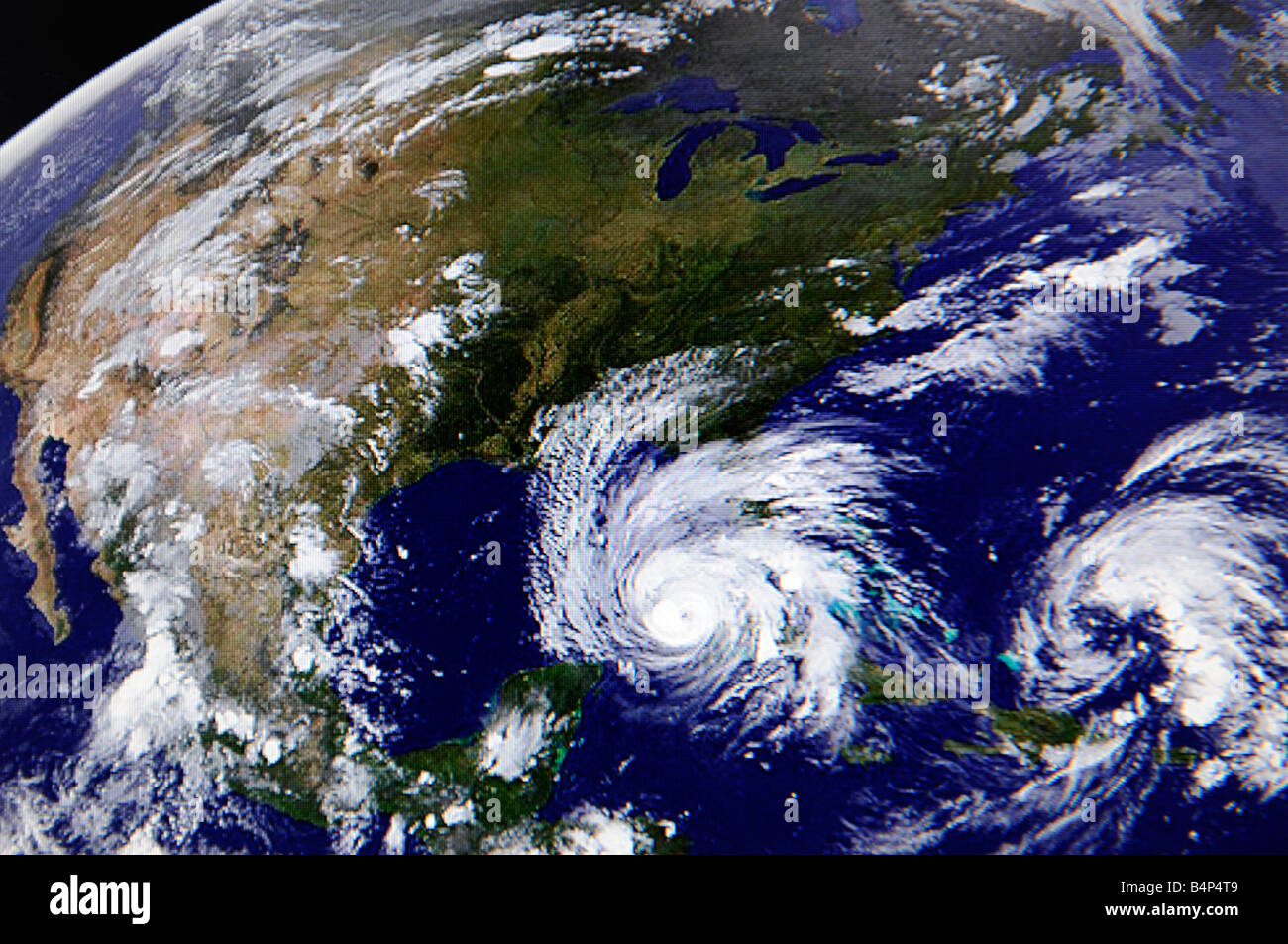 Hurricane Satellite Weather Map As Viewed On The Internet And On Tv