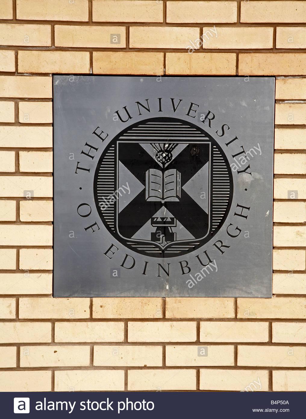 Edinburgh University coat of Arms - Stock Image