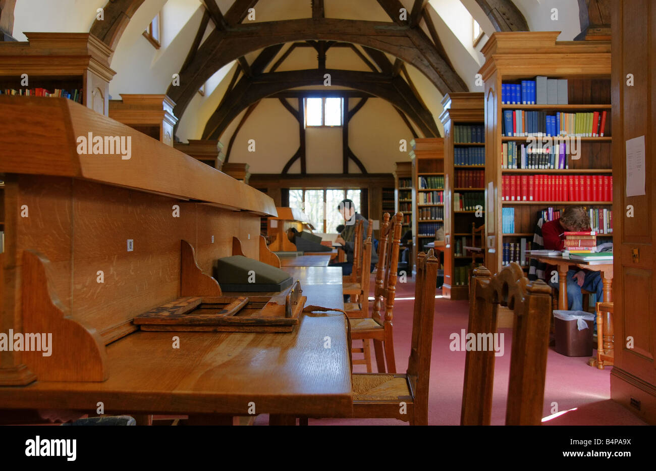Oxford, England. The Reading room in Rhodes House Library. - Stock Image