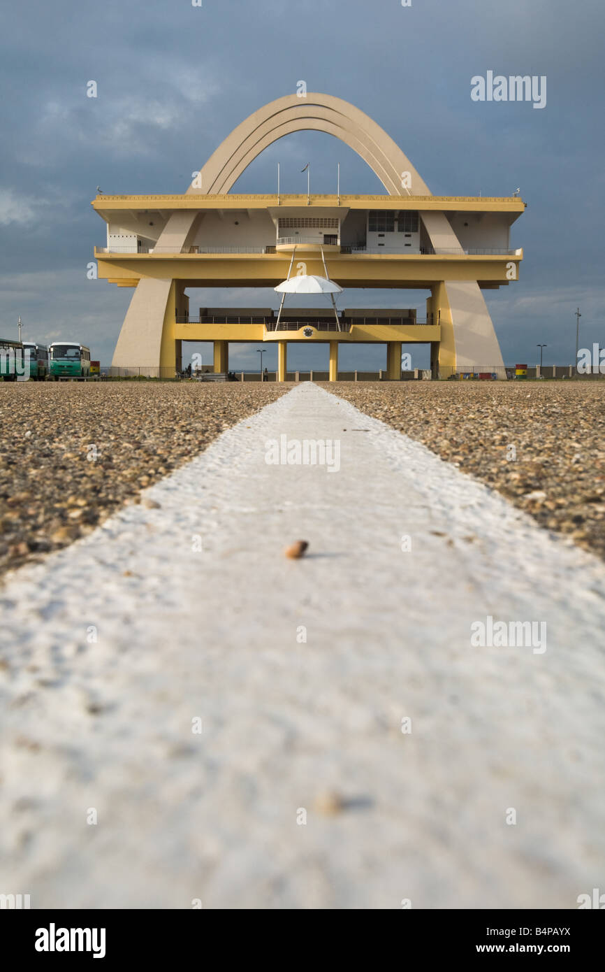 View of Independence square in Accra Ghana - Stock Image