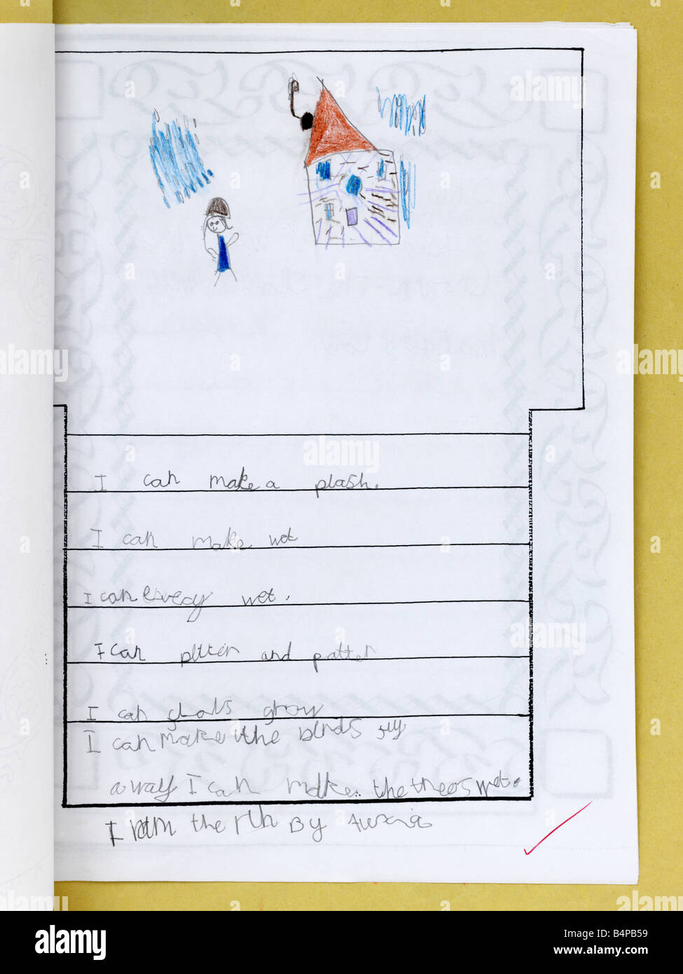 Childs Poem - Stock Image