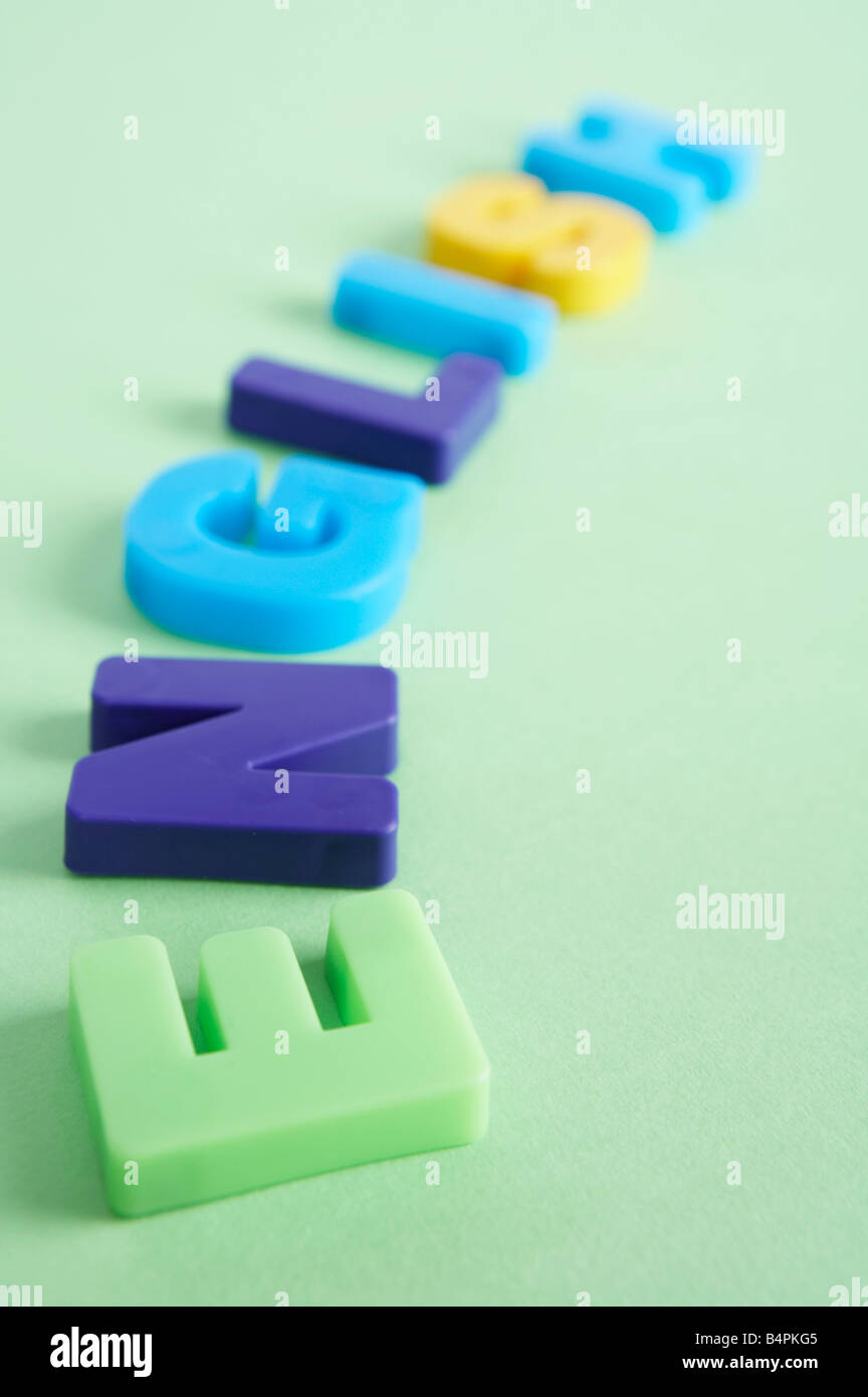 Capital letters of alphabets - Stock Image